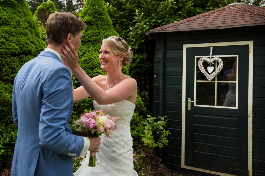 Bruidsfotografie First look in Hoofddorp