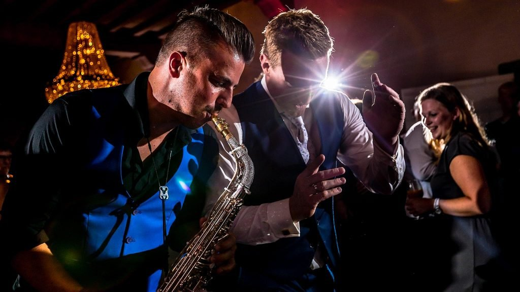 Saxofonist Kasteel Wijenburg
